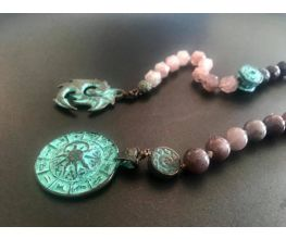 Earth Song Dragon 27 Bead  Hand Mala