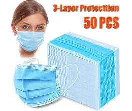 3 Ply Surgical Mask FDA Approved  50pk per box  FREE SHIPPING in Continental USA