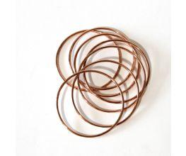 Set of 7 Pure Copper Bangles