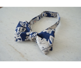 Blue Monstera Gardenia Aloha Shirt Bowtie | Self Tie Bow Tie