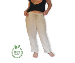 Organic Cotton Trousers, 100% Organic, Hand-made, Fair Trade, Deep Front & Back Pockets, Comfortable Boho Style, Unisex Trousers