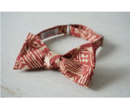 Red Abstract Floral Aloha Shirt Bowtie | Self Tie Bow Tie
